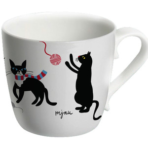 Cat mug Emelie Ek design bone china