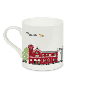 Houses of Umeå mug Emelie Ek design Bonechina 2,5dl